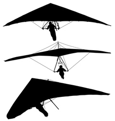 Hang Glider Silhouette vector image vector image