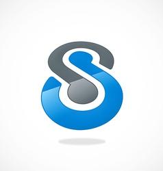 infinity business S dot logo vector image
