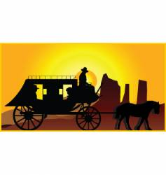 stagecoach vector image vector image
