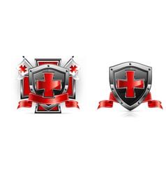 emblem templar red cross vector image vector image