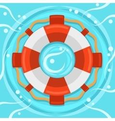 Lifebuoy flat color icon vector image