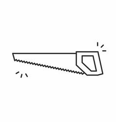 saw icon vector image vector image