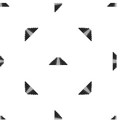 ziggurat in chichen itza pattern seamless black vector image vector image