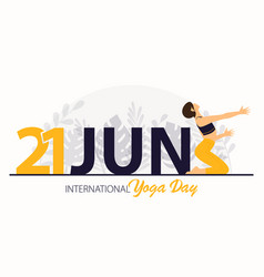 21 june international yoga day banner vector