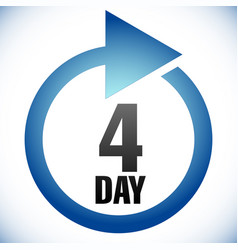 4 day turnaround time tat icon interval for vector