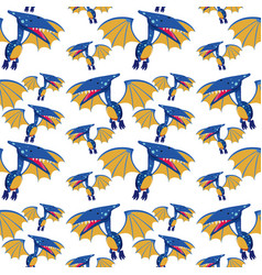 a pteranodon seamless pattern vector image