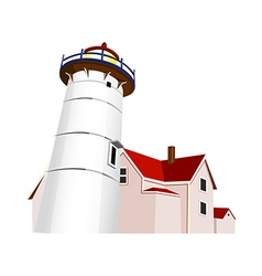 A view of lighthouse vector