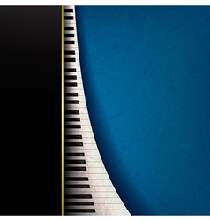 Abstract grunge music background with piano keys vector