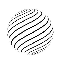 Abstract striped spheres vector