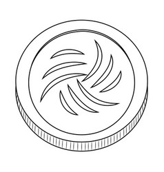 abstract virtual coin vector image