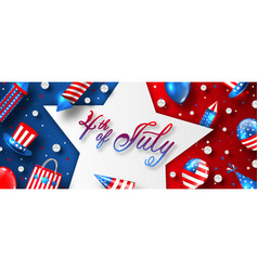 american card for usa independence day celebration vector image