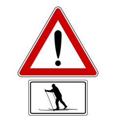 attention sign with exclamation mark and vector image