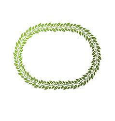 award vintage circular frame with clear copy vector image