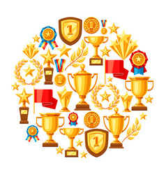 Awards and trophy background vector