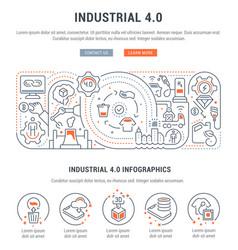 Banner industrial 40 vector