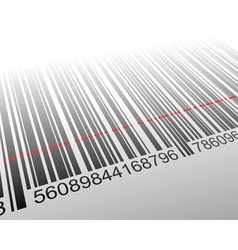barcode with laser effect vector image