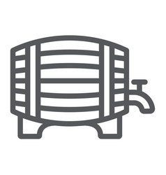 barrel beer line icon alcohol and pub brewery vector image