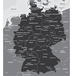 Black and white map of germany vector