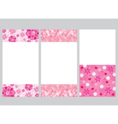Bokeh and flower frame decoration set vector