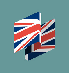 britain flag ribbon isolated british tape banner vector image