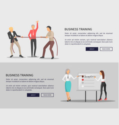 business training web posters competition issues vector image