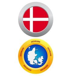 button as a symbol DENMARK vector image vector image