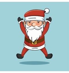Cartoon cheerful santa claus icon vector