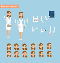 cheerful doctor vector image
