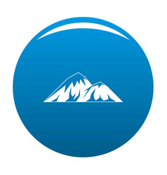 Climbing on mountain icon blue vector