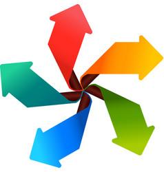 Colorful arrow set vector