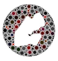 coronavirus stencils circle djibouti map mosaic vector image