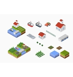 countryside with farm vector image