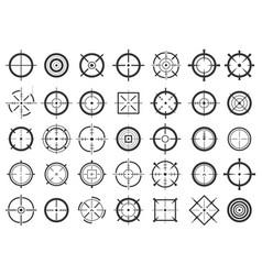 Creative crosshairs icon vector