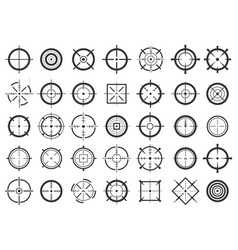 Creative of crosshairs icon vector
