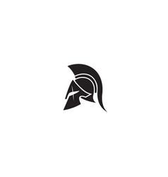 Creative spartan helmet logo design vector