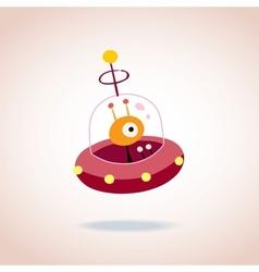 cute alien character 4 vector image
