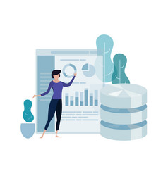 data science concept big database technology vector image