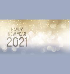Decorative happy new year banner design vector