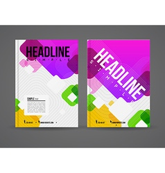 Design brochure template vector image