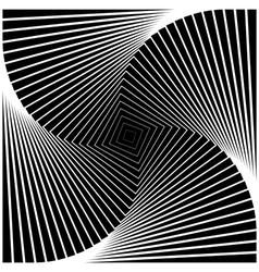 Design monochrome swirl movement square background vector