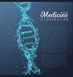 Dna spiral medical molecule structure vector