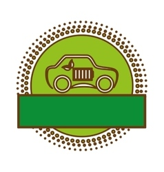Eco friendly car design vector