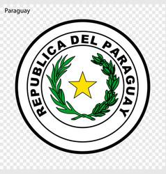 Emblem paraguay vector
