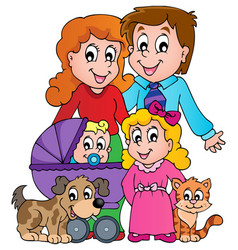 Family theme image 3 vector