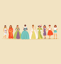 Fashion history vector