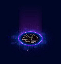 fingerprint scanning identification system vector image