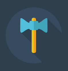 Flat modern design with shadow icons axe vector