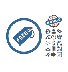 Free Tag Flat Icon With Bonus vector