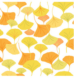 ginkgo yellow vector image