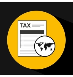Global business taxes concept icon vector